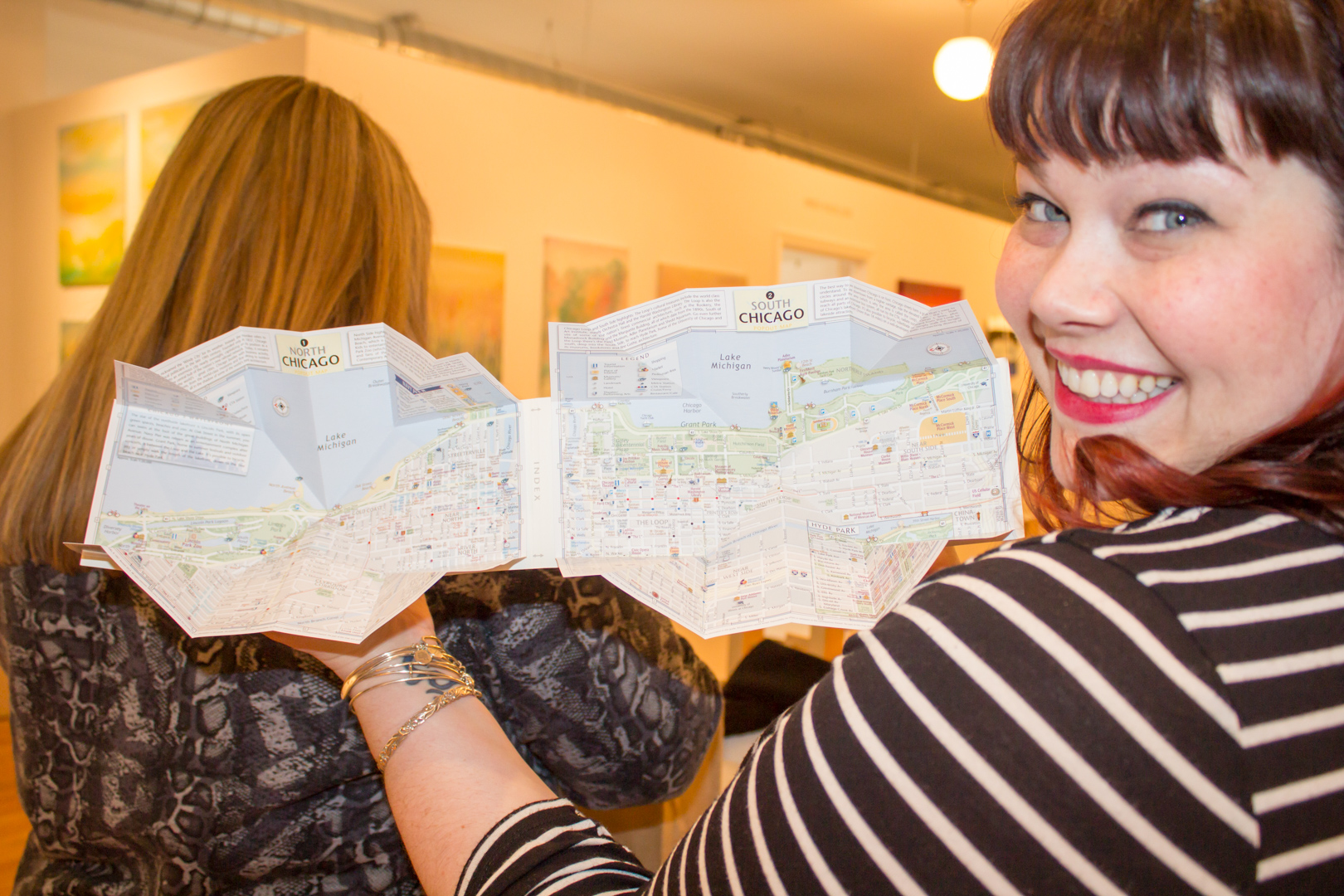 Chicago Gift Baskets Pop Out Map