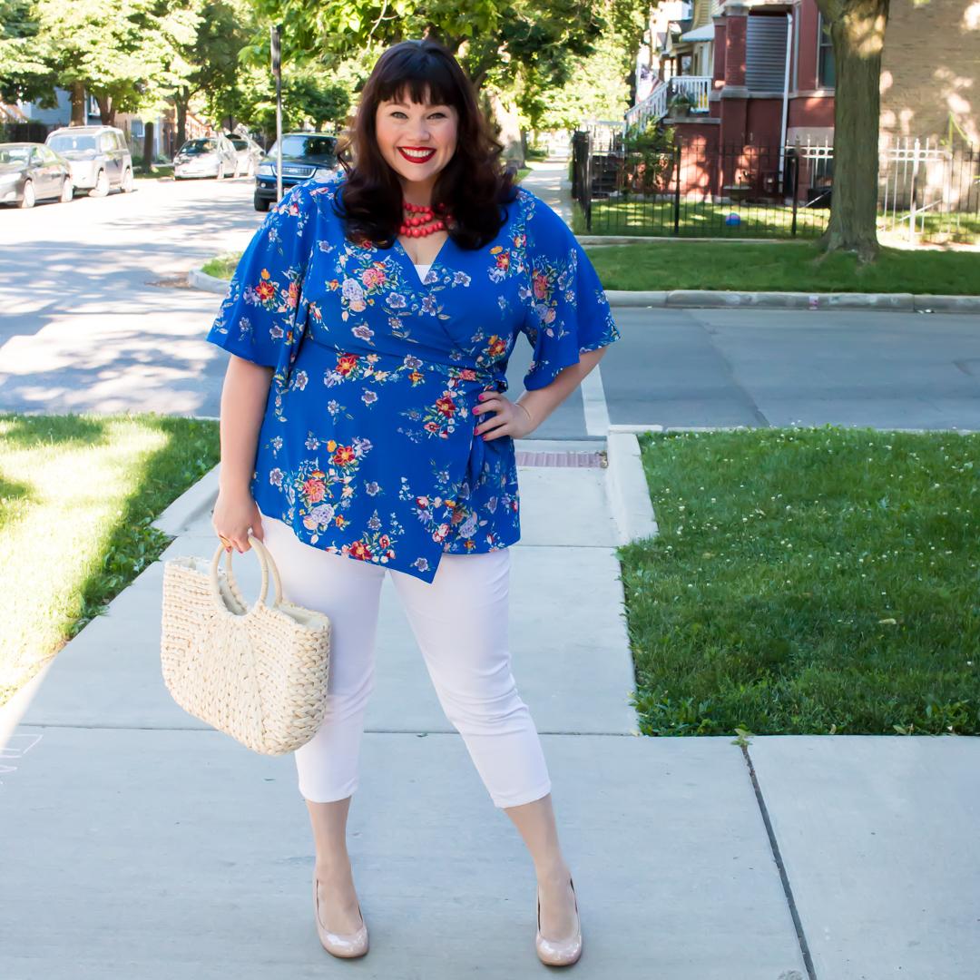 Style Plus Curves, Chicago Blogger, Chicago Plus Size Blogger, Plus Size Blogger, Amber McCulloch, Kiyonna, Chic Chiffon Top, Plus Size Kimono Wrap Top