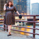 Kiyonna Dresses, Plus Size Blogger, Style Plus Curves, Chicago Blogger, Chicago Plus Size Blogger, Amber McCulloch, Kiyonna, Glittering Affair Wrap dress, Plus Size Dress