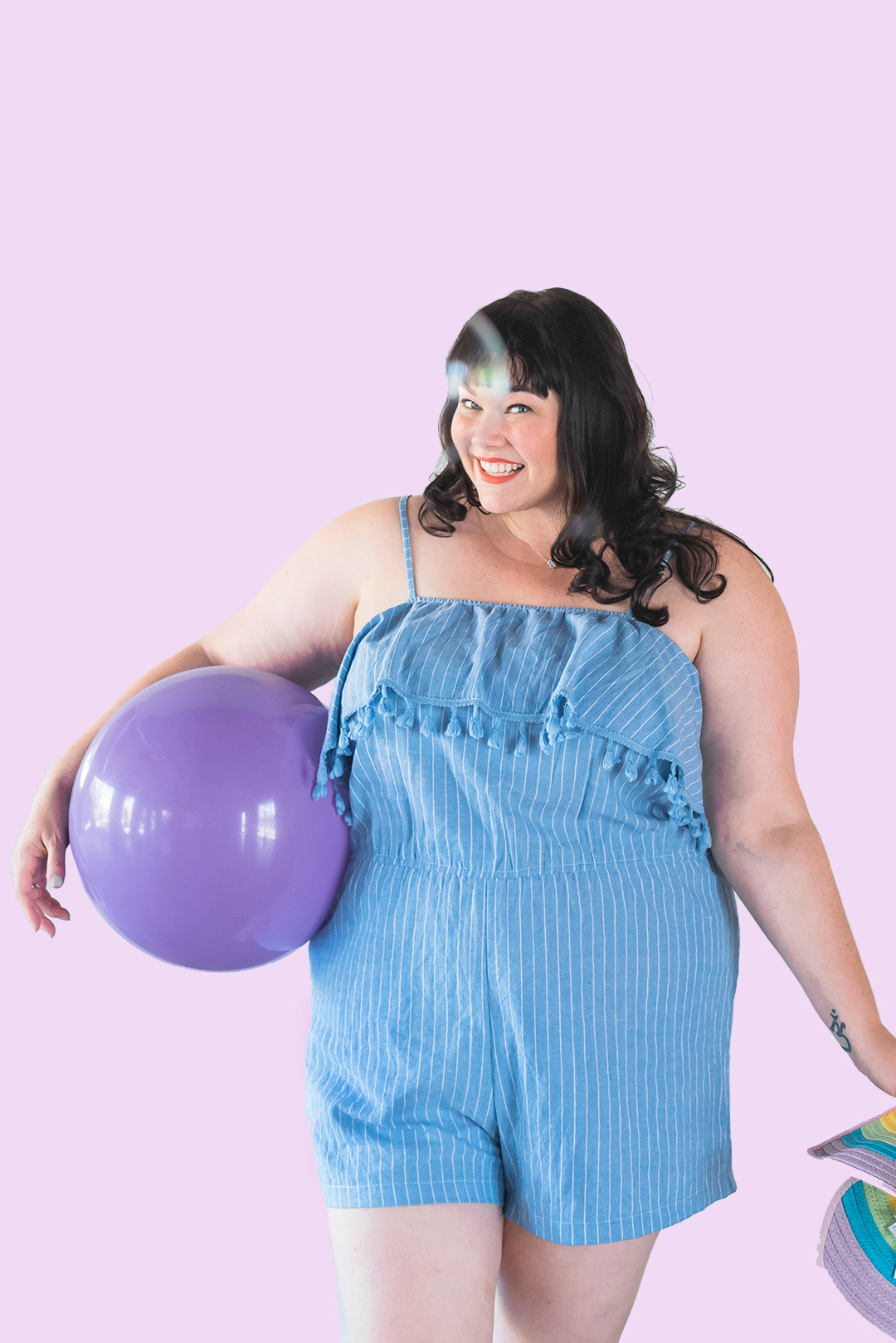 Style Plus Curves, Chicago Blogger, Chicago Plus Size Blogger, Plus Size Blogger, Amber McCulloch, loralette, Avenue Plus, Blue Romper, Loralette Review