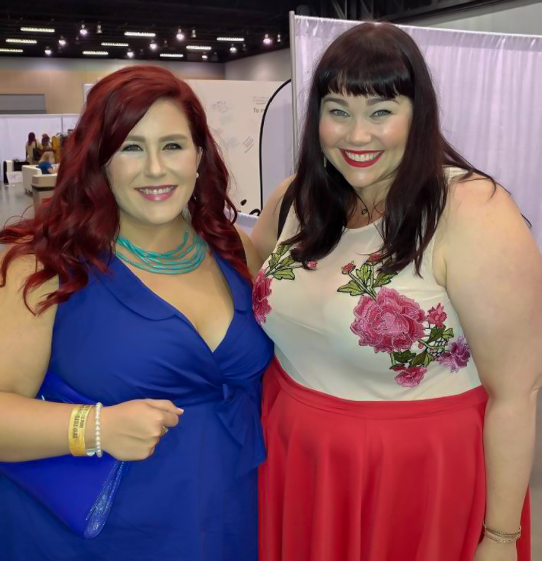 Megan from Curves, Curles and Clothes, Amber from Style Plus Curves, Amber McCulloch, TCF Style Expo, TCFStyle Expo