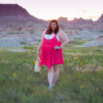 Loralette Review, Style Plus Curves, Chicago Blogger, Chicago Plus Size Blogger, Plus Size Blogger, Amber McCulloch, Loralette, Avenue Plus, Pink Babydoll Dress, South Dakota, Badlands National Park