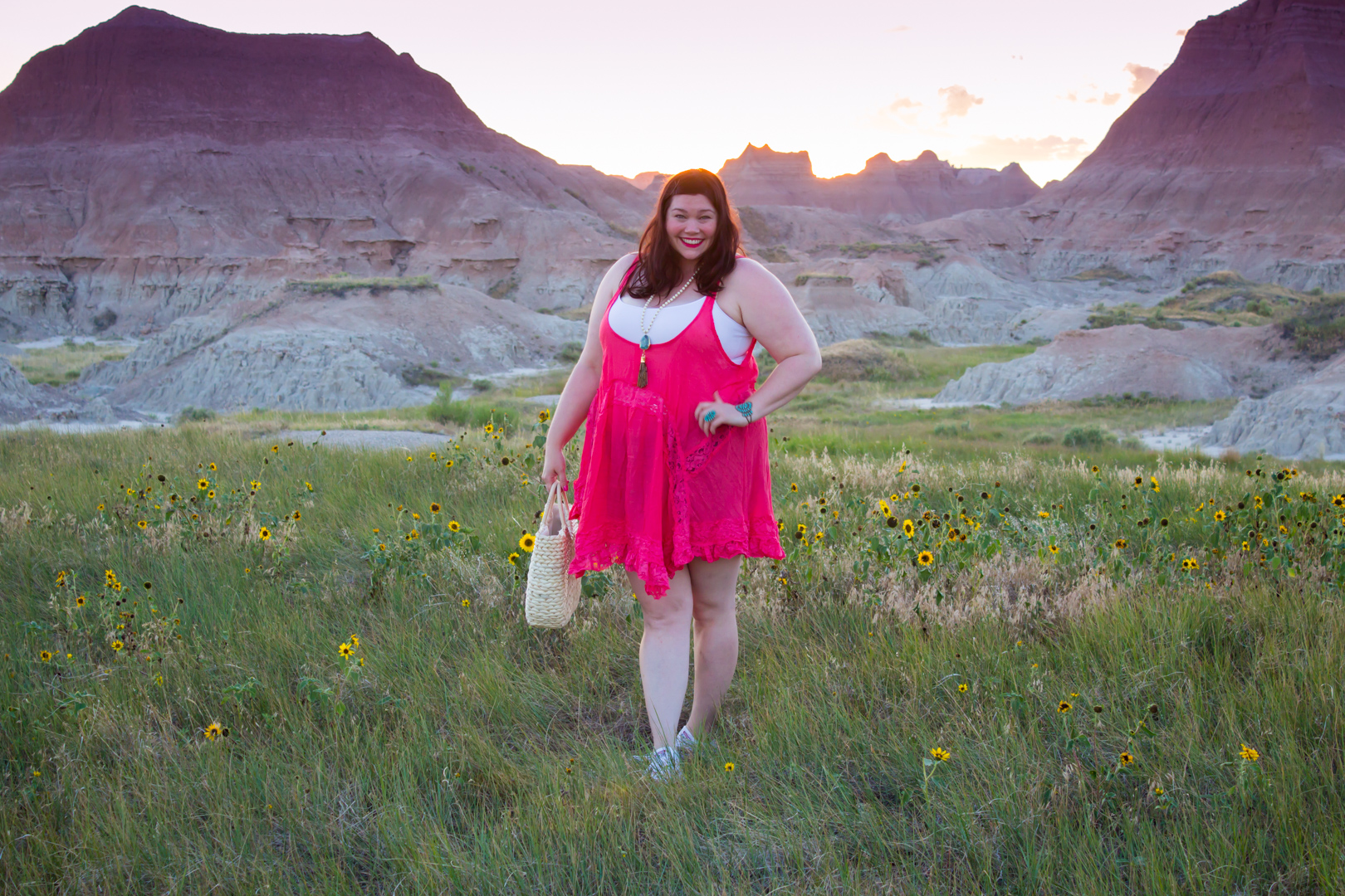 Loralette Review: Pink Plus Size Lace Trim Babydoll Dress