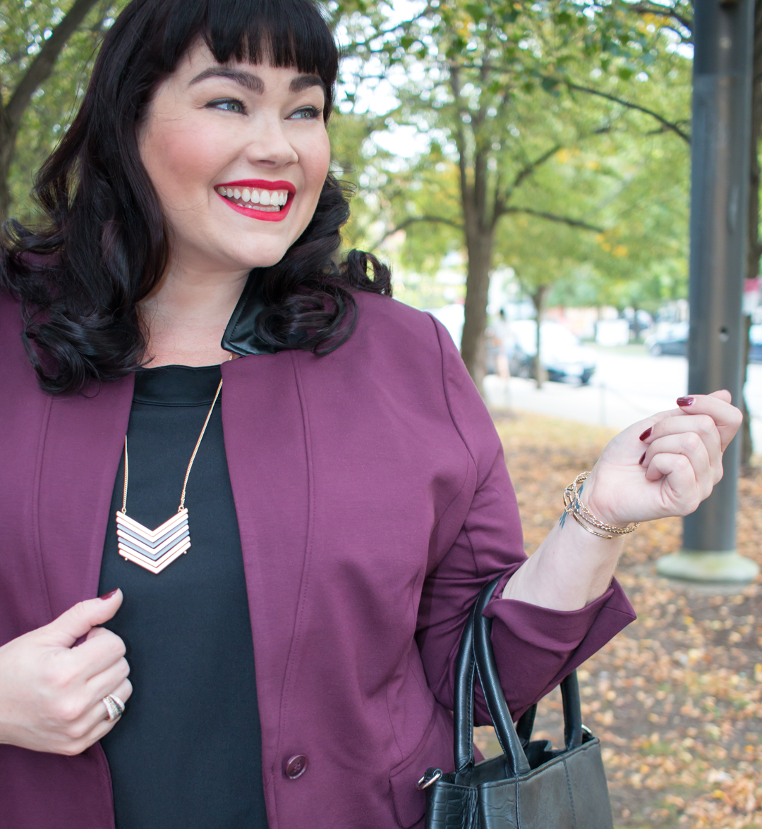 Style Plus Curves, Chicago Blogger, Chicago Plus Size Blogger, Plus Size Blogger, Amber McCulloch, Lane Bryant, Back to School Style, Bryant Blazer, Teacher Style, Fall Fashion