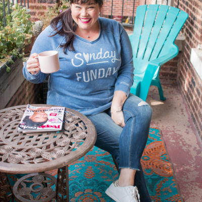 Sunday Funday in this Avenue Plus Size Sweatshirt