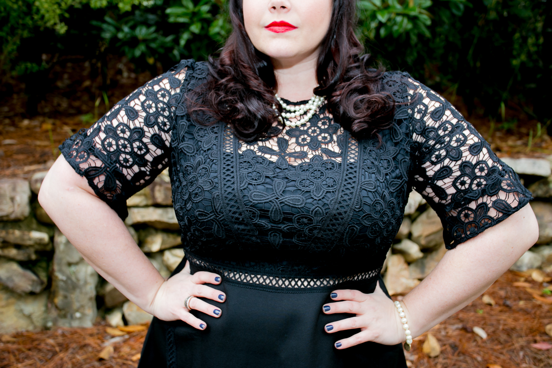 Plus Size OOTD, Asos Curve, Lace Dress, LBD, Plus Size Style, Plus Size Fashion, Style Plus Curves, Chicago Blogger, Chicago Plus Size Blogger, Plus Size Blogger, Amber McCulloch