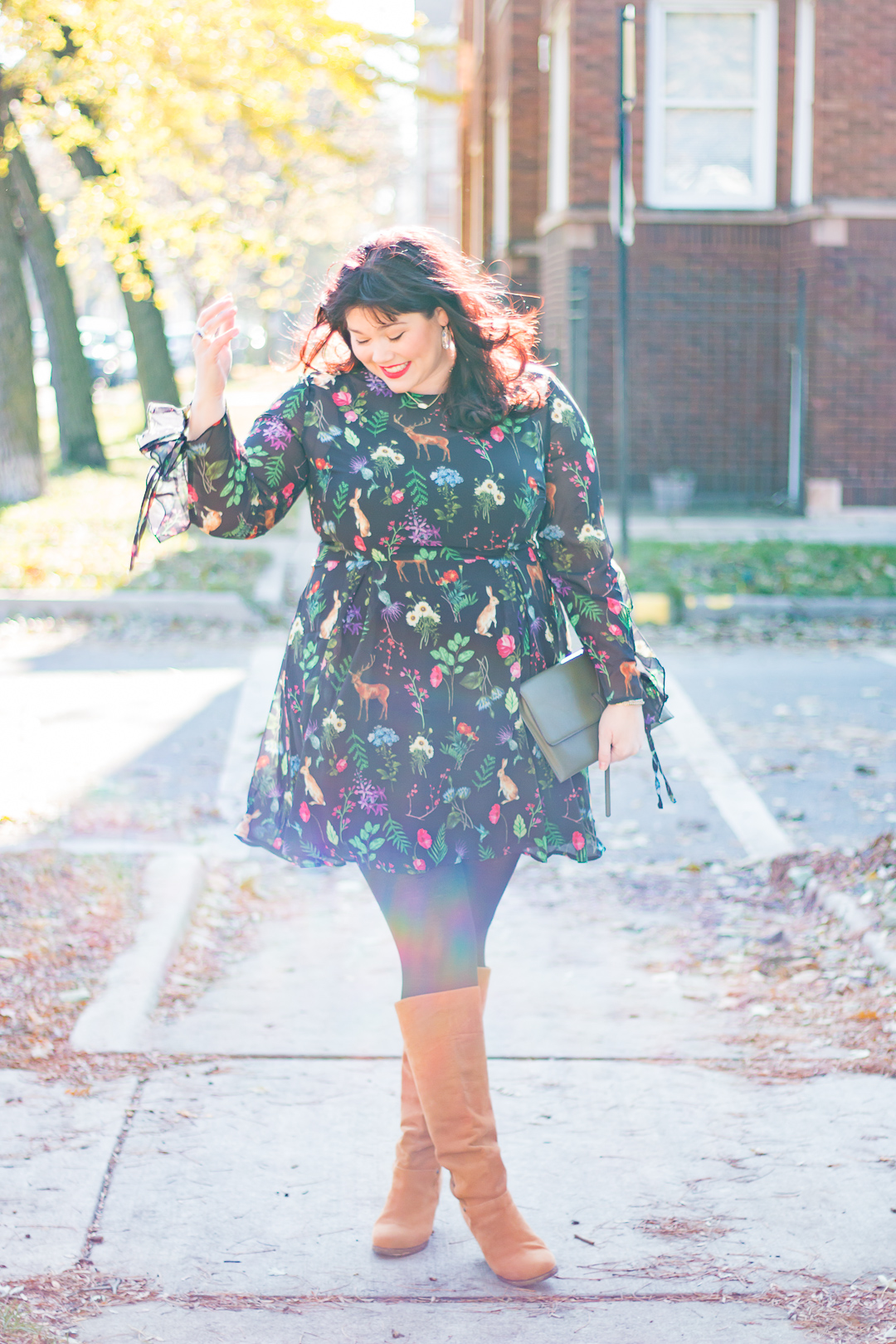 Plus Size OOTD: Unique 21 Tea Dress in Garden Floral Print