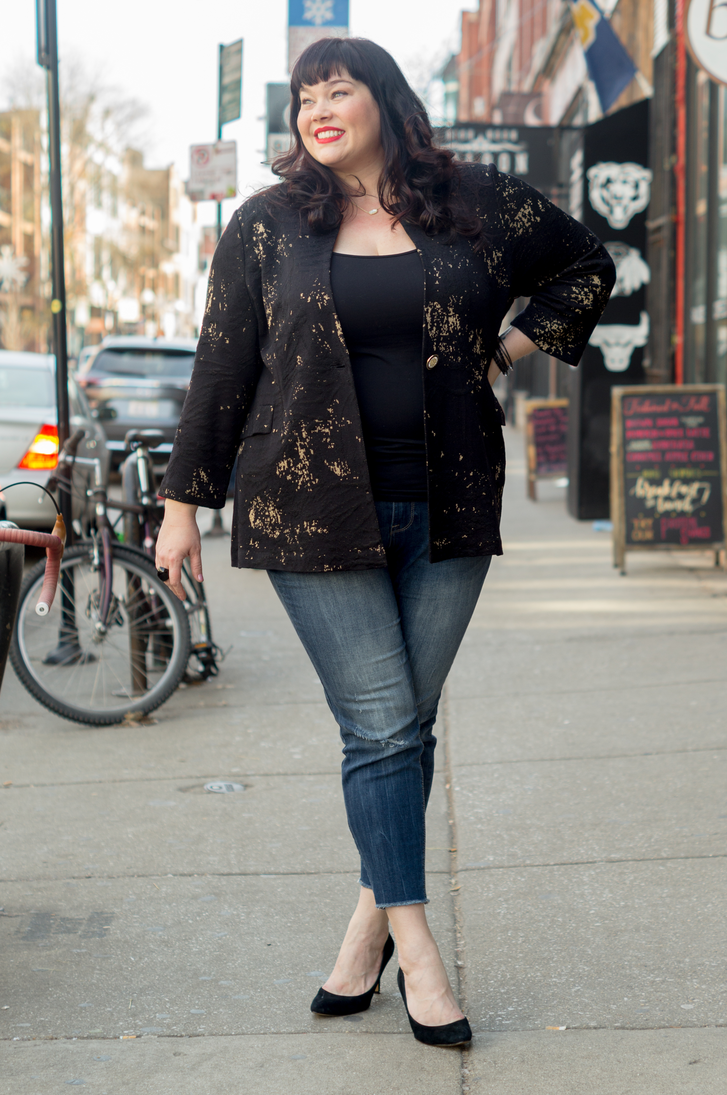 Misook, plus size blazer, Plus Size Style, Plus Size Fashion, Style Plus Curves, Chicago Blogger, Chicago Plus Size Blogger, Plus Size Blogger, Amber McCulloch