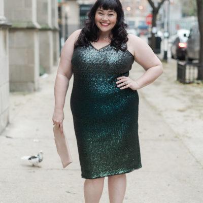 Emerald Green Plus Size, Macy's, Rachel Roy, Plus Size Style, Plus Size Fashion, Style Plus Curves, Chicago Blogger, Chicago Plus Size Blogger, Plus Size Blogger, Amber McCulloch