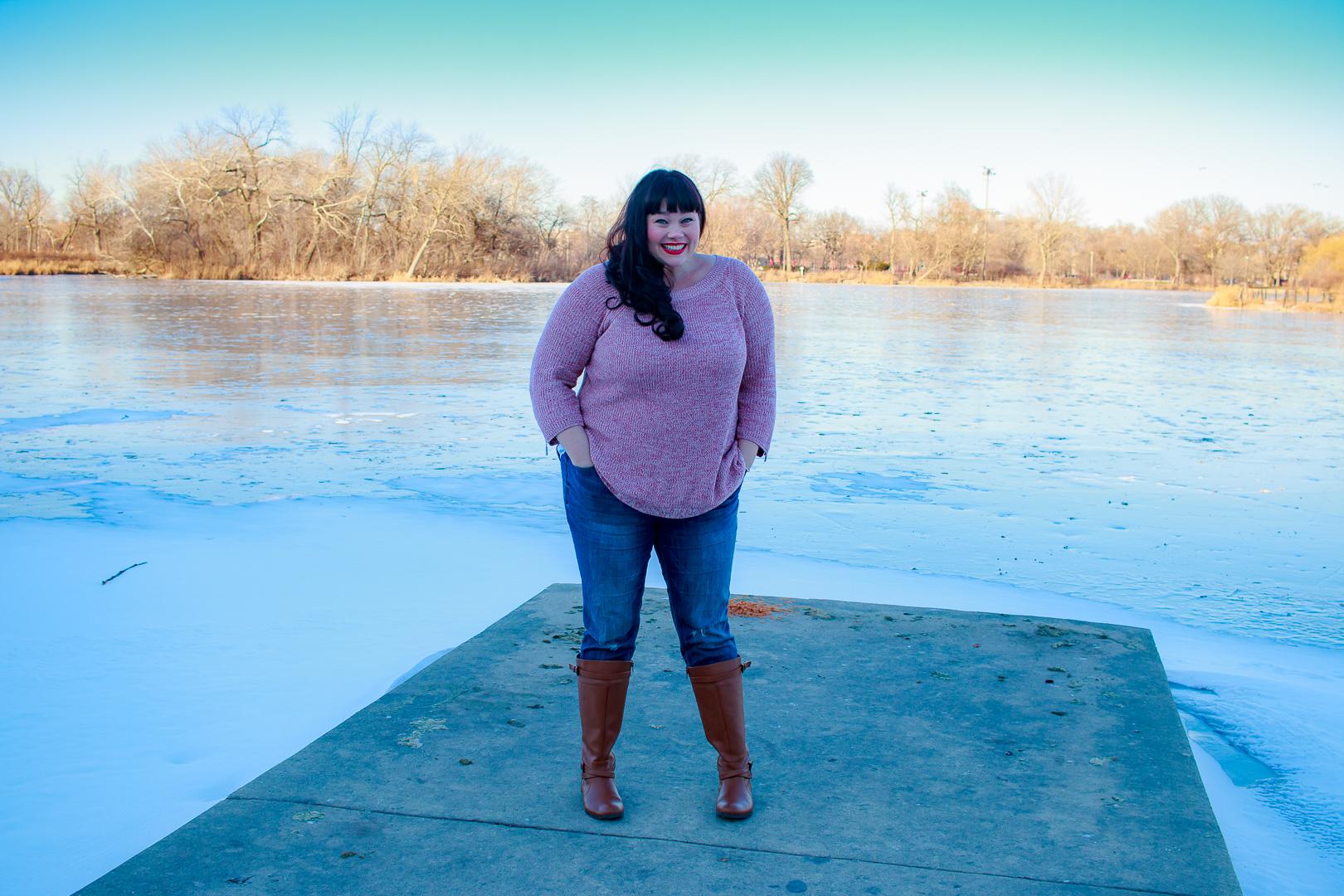 Plus Size Winter Style, Zipper Sleeve Sweater, Avenue, Chicago Blogger, Plus Size Blogger, Style Plus Curves