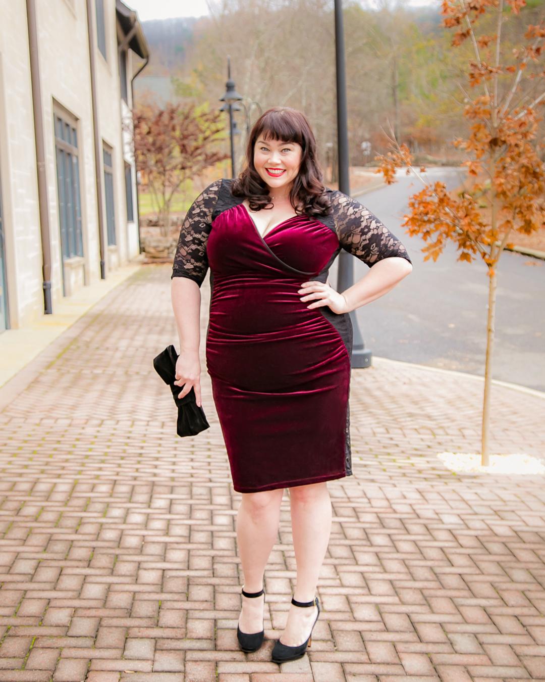 Plus Size Dress Kiyonna Hourglass Lace Dress