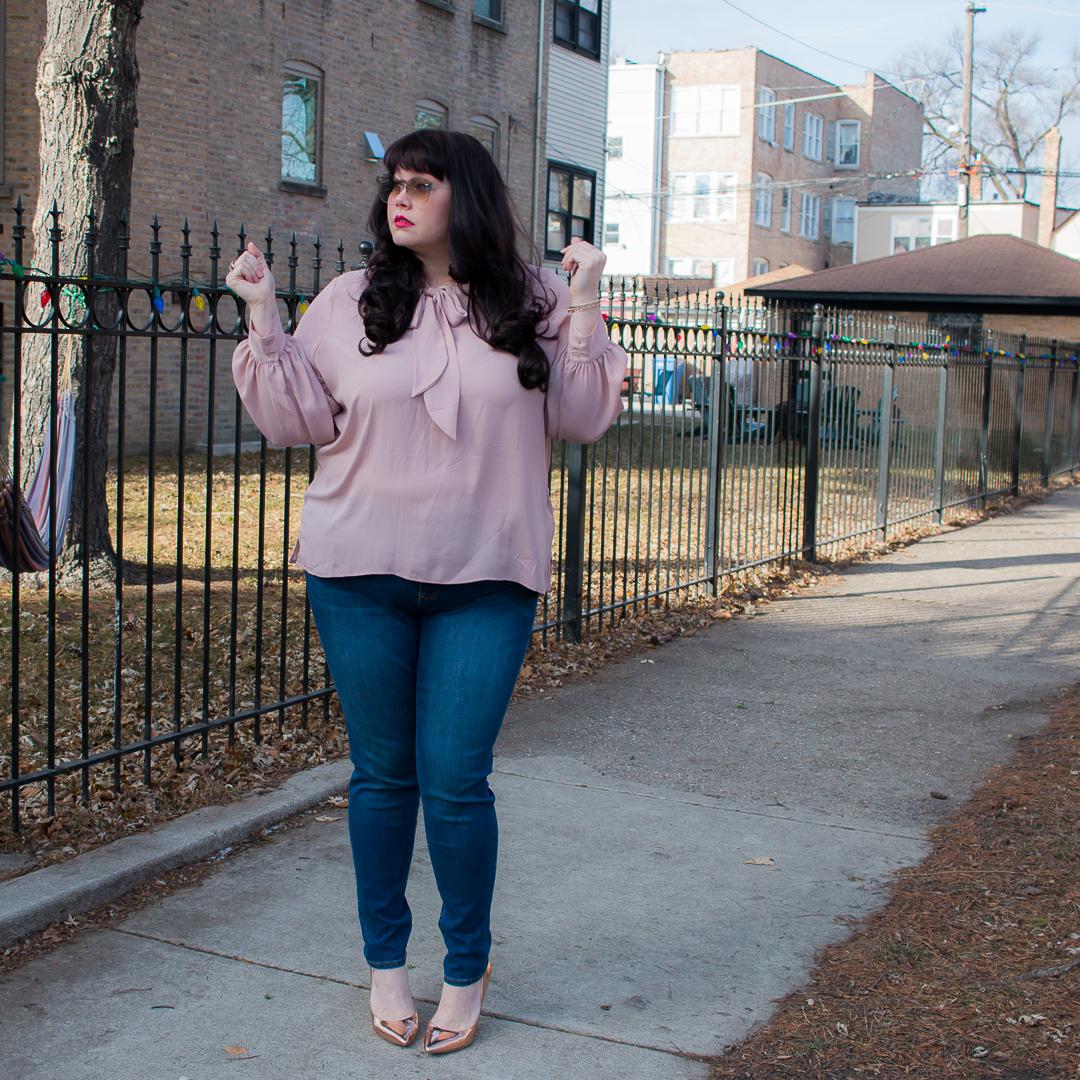 Stitch Fix Plus Size Review, plus size skinny jeans, Chicago Blogger, Chicago Plus Size Model, Amber McCulloch, Plus Size Blogger, Style Plus Curves