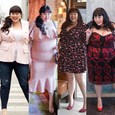 Plus Size Valentine's Day Look, Style Plus Curves, Chicago Plus Size Blogger, Top Plus Size Blogger