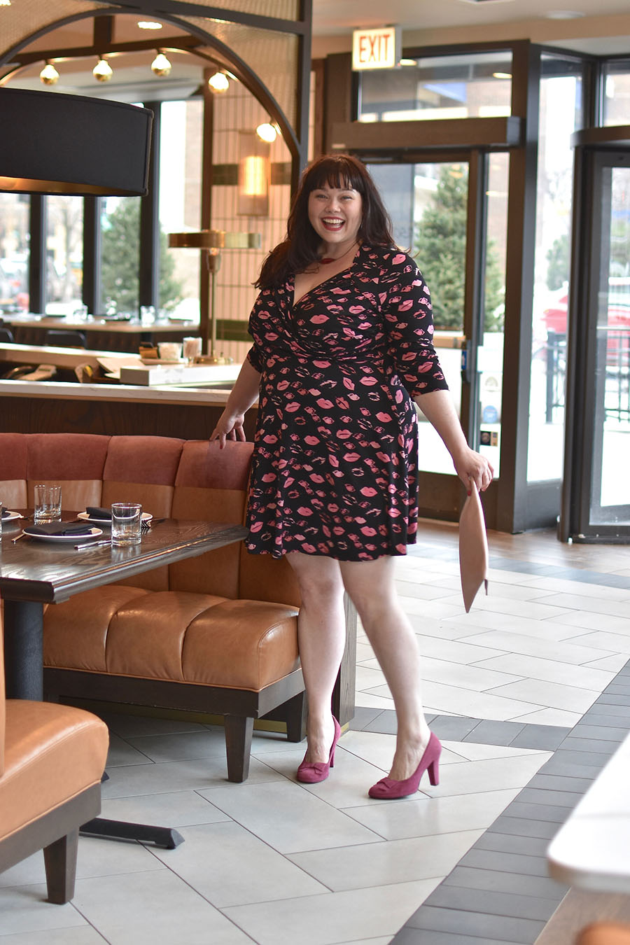Plus Size Valentine's Day Look, Leota dress, Lip Print Dress, Gwynnie Bee