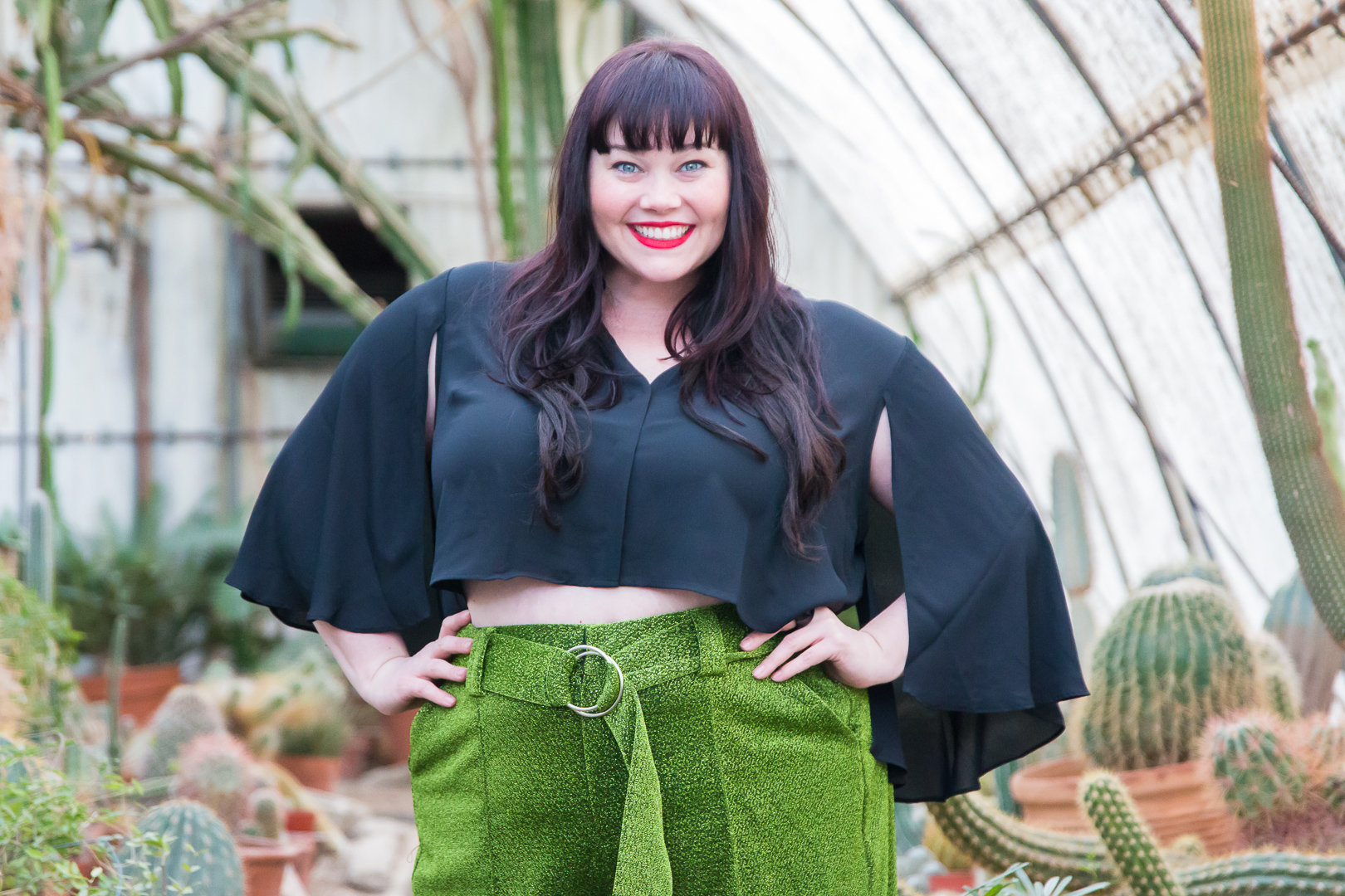 Plus Size Blogger, Amber from Style Plus Curves, Green Pants, Premme, Chicago Blogger