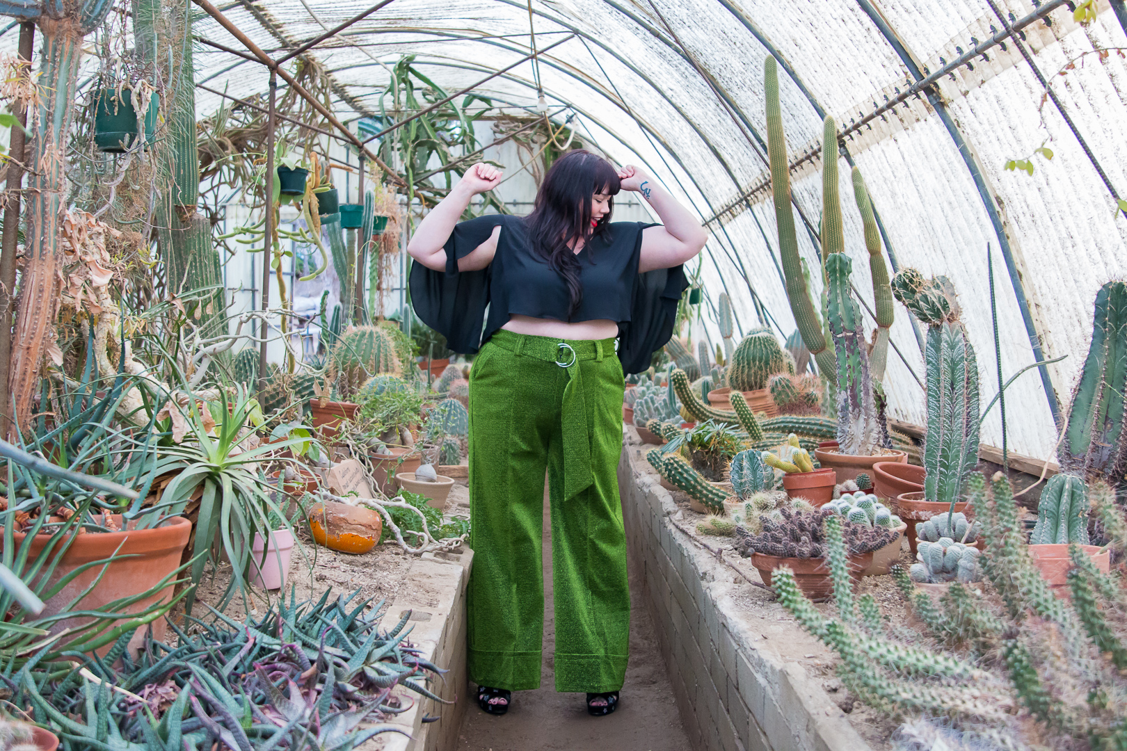 Cactus Garden Photo Shoot, Top Fashion Blogger, Plus Size Influencer
