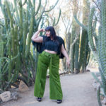 Premme, Green Pants, Wide-Leg Plus Size Pants, Plus Size Blogger