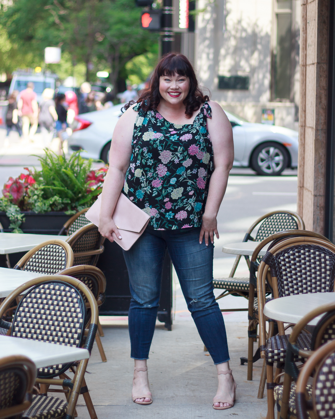 Chicago Style, Gwynnie Bee, Chicago Blogger, Plus Size Blogger, Plus Size Clothing, Floral Top, Kensie