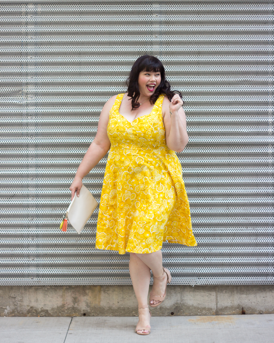 Chicago Style, Gwynnie Bee, Chicago Blogger, Plus Size Blogger, Plus Size Clothing, Lemon Dress, Retro Style, Cherry Velvet