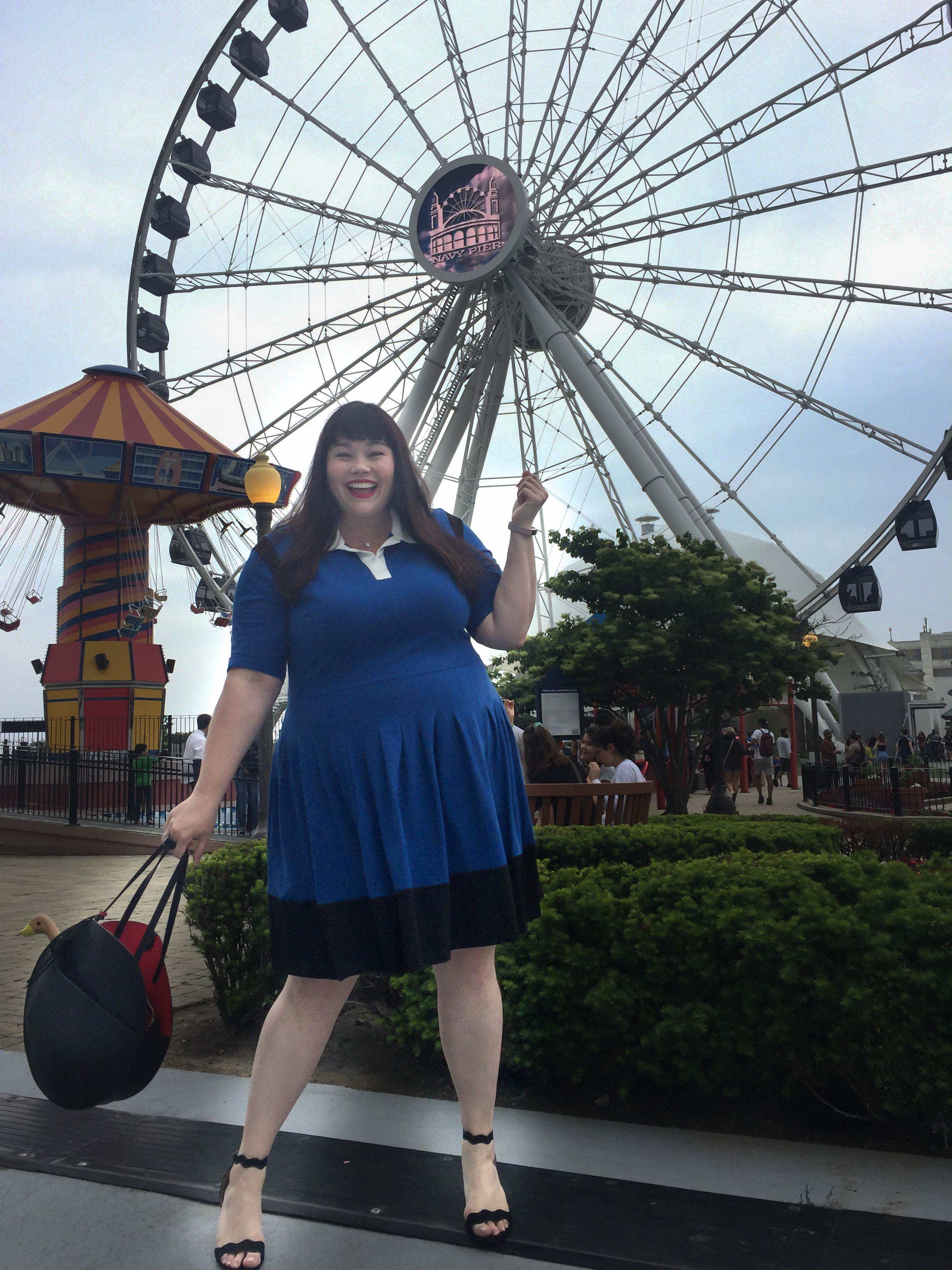 Chicago Style, Gwynnie Bee, Chicago Blogger, Plus Size Blogger, Plus Size Clothing, eShakti, Navy Pier