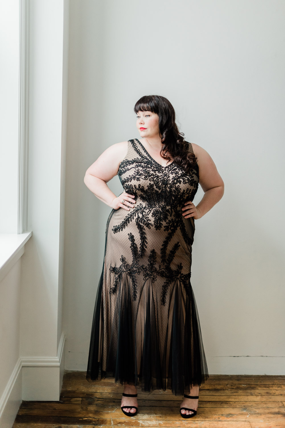 Plus Size Formal Gowns, Macy's, Style Plus Curves, Amber McCulloch, Plus Size Model, Plus Size Blogger, Betsy & Adam