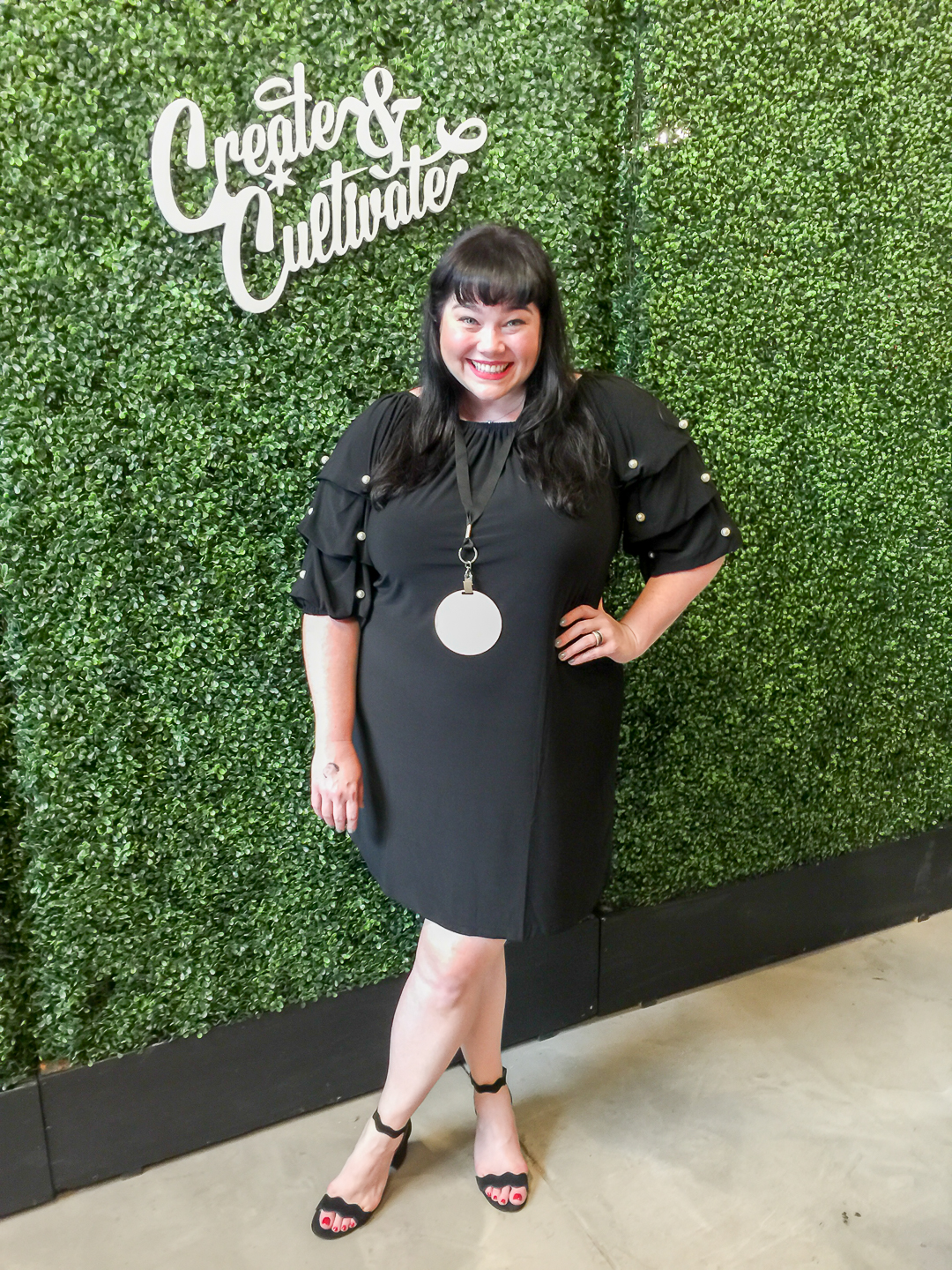 Plus Size Blogger in JCPenney clothes at Create and Cultivate Chicago