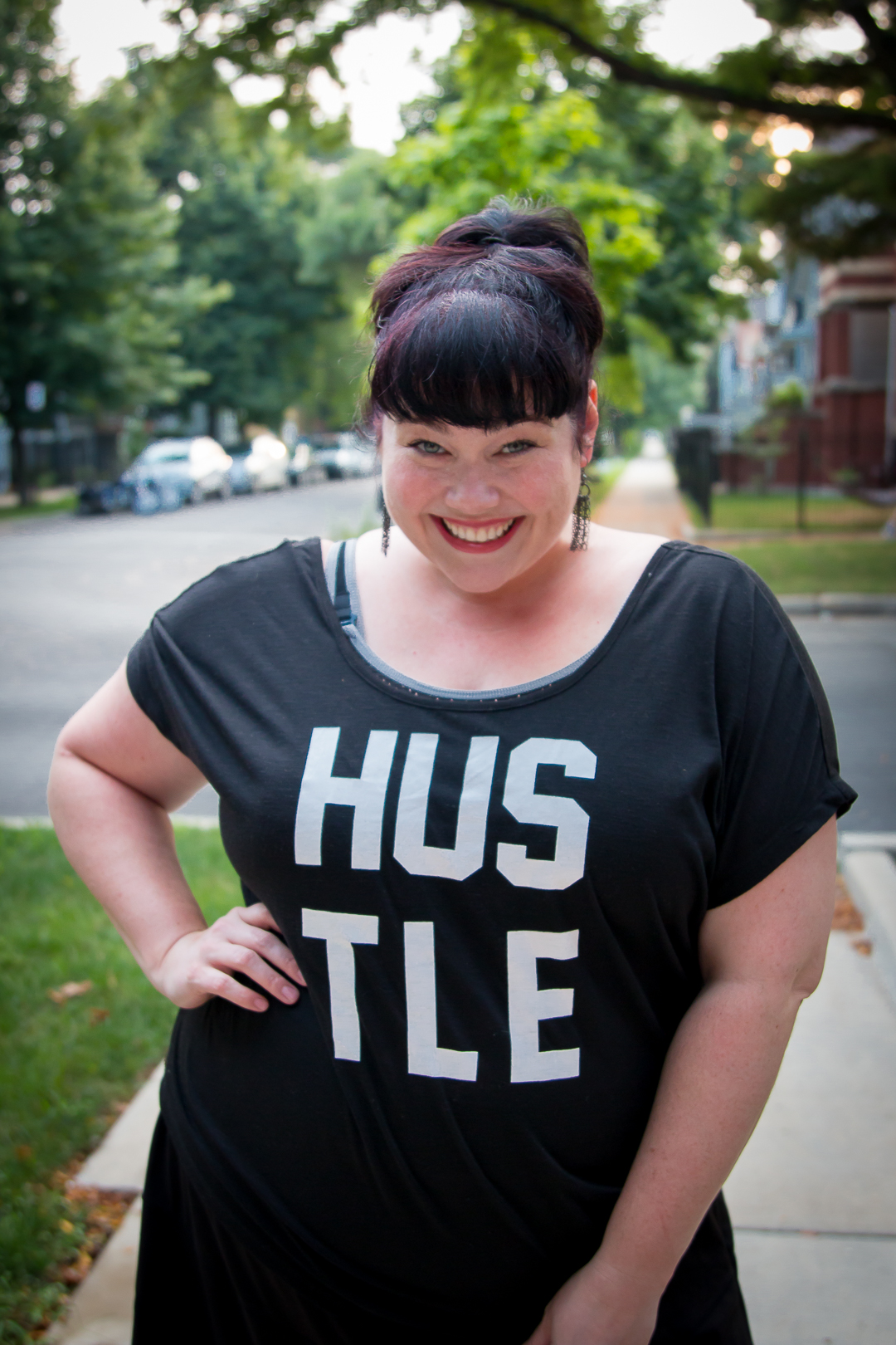Plus Size Blogger Amber in Workout Clothes