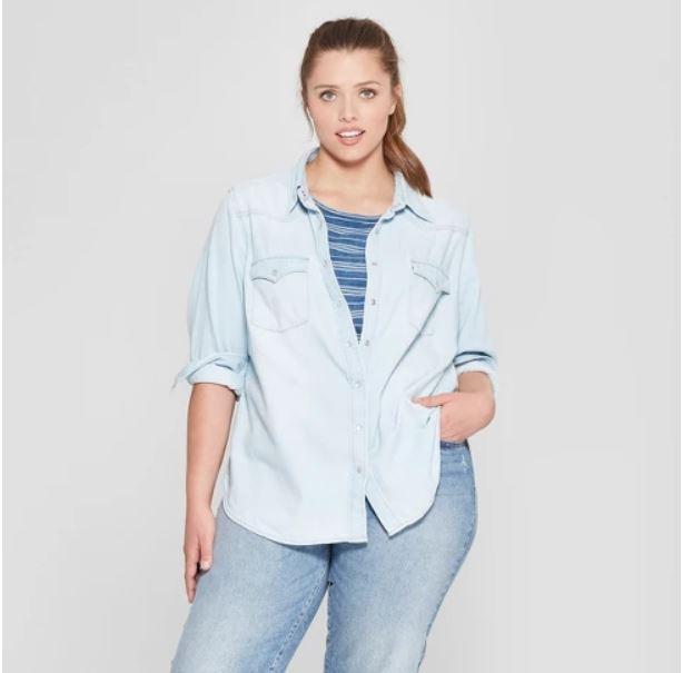 Universal Thread Plus Size Denim Shirt