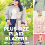 plus size plaid blazers for fall