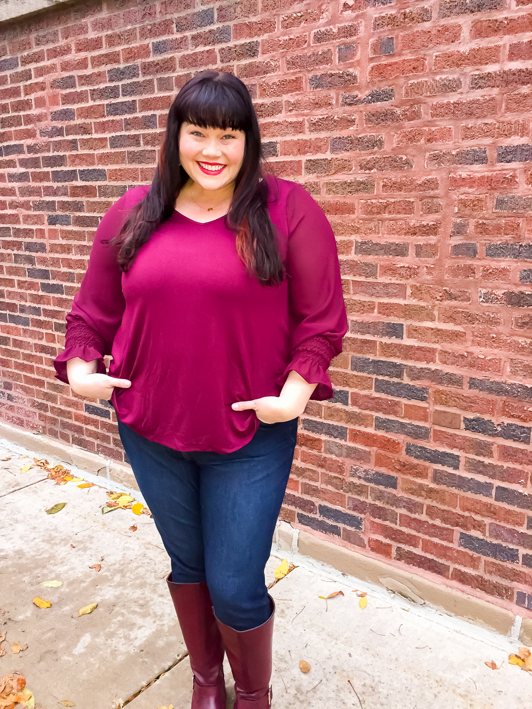 Chicago Plus Size Blogger wears fall layers from Stitch Fix