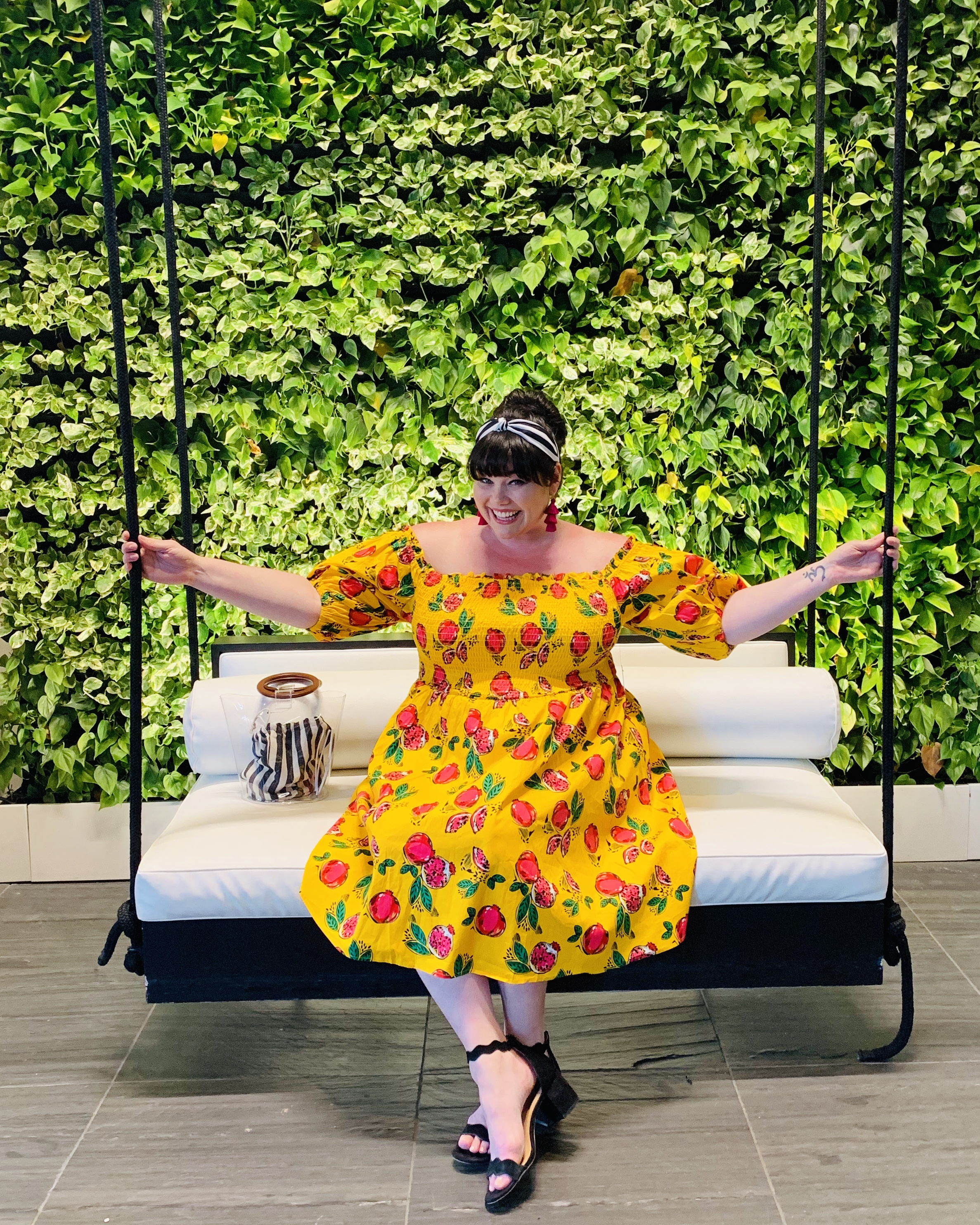 OOTD: Plus Size Off the Shoulder Dress in Pomegranate Print